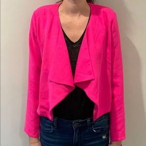 Tobi Neon Pink Open Front Blazer